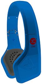 Vibe FLI On-Ear Headphones In-Line Microphone iPhone HTC- Blue Audio