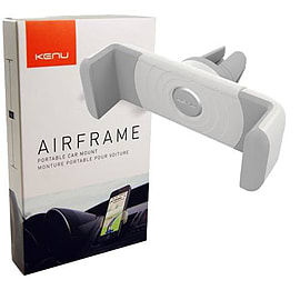 Kenu Airframe Portable Car Mount For iPhones & Smartphones - White Mobile phones