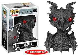 Funko - Figurine Skyrim Elder Scrolls - Alduin Oversize Pop 15cm Figurines and Sets