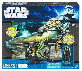 Star Wars Exclusive Playset Jabba The Hutt's Throne (3 Figures) /toys Figurines and Sets