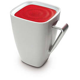 Mighty Sound Mug Bluetooth Wireless Portable Speaker White/Red Audio