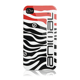 Contour Design iPhone 4/4S Animal Zebra Hard Shell Case in Black Mobile phones