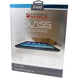 Zagg InvisibleShield Glass Screen Protector Guard For iPad Air - Clear Tablet