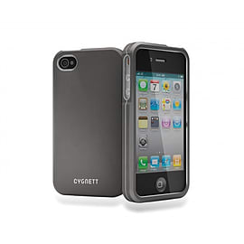 Cygnett Metalicus Metal Case for iPhone 4/4S + Screen Protector + Cleaning Cloth in GunMetal Mobile phones
