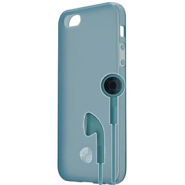 Venom Signature TPU Case and Headphone Bundle For iPhone 5 (Light Blue) Mobile phones