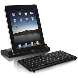Macally Portable Bluetooth Mini Keyboard & Stand For iPad/iPhone - Black Mobile phones