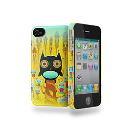 Cygnett Icon Nathan J's Hootsville Case for iPhone 4/4S + Screen Protector + Cleaning Cloth Mobile phones
