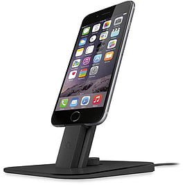 GENUINE Twelve South HiRise Deluxe Charger Stand Mount iPhone + iPad - Black Mobile phones