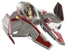 Obi Wans Jedi Starfighter 1:58 Scale EasyKit Pocket Figurines and Sets
