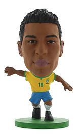 Soccerstarz - Brazil Paulinho - Home Kit /figures Figurines and Sets