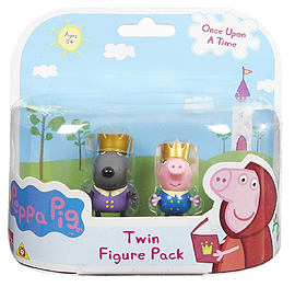 Peppa Pig Once Upon A Time Figure 2 Pack - George And Danny Figurines and Sets