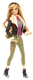 Barbie - Style Doll - Leather Vest (blr 58)/toys Figurines and Sets