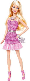 Barbie - Core Friends Party Doll - Barbie Pink Dress /toys Figurines and Sets