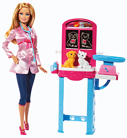 Barbie Careers Complete Play Pet Vet Figurines and Sets