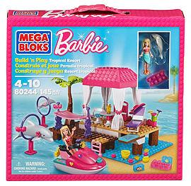 Mega Bloks Barbie Build N Play Tropical Resort Blocks and Bricks
