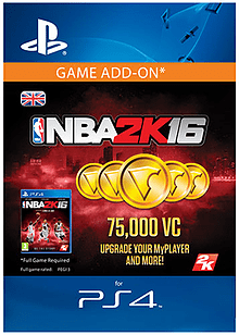75,000 Virtual Currency - NBA 2K16 PlayStation Network