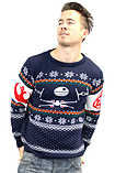 Star Wars Battle Of Yavin Christmas Jumper - Extra Small screen shot 3