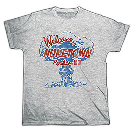 Call Of Duty: Black Ops 3 - Welcome to Nuketown Grey Tee Large Large