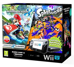Black Wii U Premium with Mario Kart 8 and Splatoon Multiplay Bundle Wii U