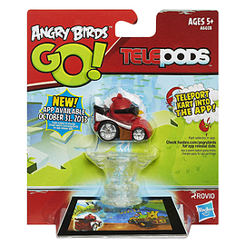 Angry Birds Go! Telepods Red/silver Pod Figurines and Sets