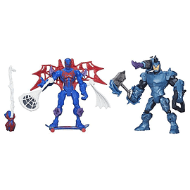 Marvel Super Heroes Mashers Battle Pack - Spider-man 2099 Vs Rhino Figurines and Sets