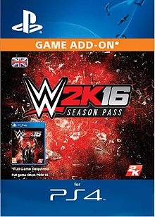 WWE 2K16 Season Pass PS4 Cover Art