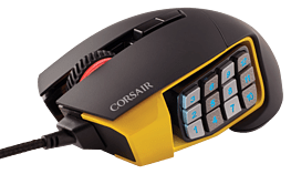 Corsair Scimitar Yellow Optical Gaming Mouse screen shot 3