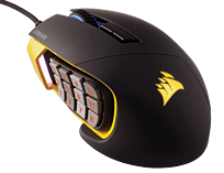 Corsair Scimitar Yellow Optical Gaming Mouse screen shot 4