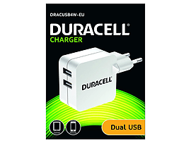 Duracell Twin Usb Tablet Charger 2x2.4a Tablet