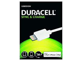 Duracell 1m Sync/charge Cable -lightning Mobile phones