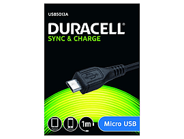 Duracell 1m Sync/charge Cable -micro Usb Mobile phones