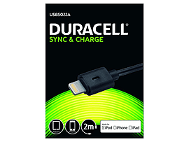 Duracell 2m Sync/charge Cable-lightning Mobile phones