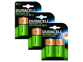 Duracell Rechargeable D Size 6 Pack Multi Format and Universal