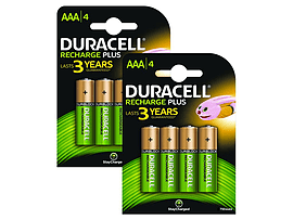 Duracell Rechargeable Aaa 8 Pack Multi Format and Universal
