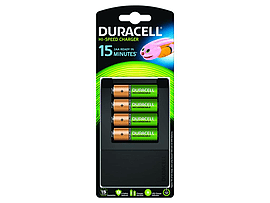 Duracell 15 Minute Charger +4 X Aa Cells Multi Format and Universal