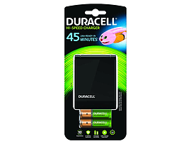 Duracell 45m Charger + 2 X Aa/aaa Cells Multi Format and Universal