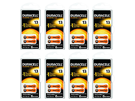 Duracell Hearing Aid Battery 8 X 6 Pack Multi Format and Universal