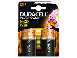 Duracell Plus Power D Size 2 Pack Multi Format and Universal