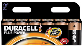 Duracell Plus Power D Size 6 Pack Multi Format and Universal