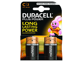 Duracell Plus Power C Size 2 Pack Multi Format and Universal