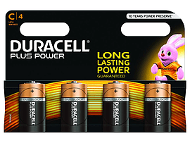 Duracell Plus Power C Size 4 Pack Multi Format and Universal