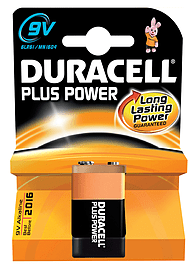 Duracell Plus Power 9v 1 Pack Multi Format and Universal