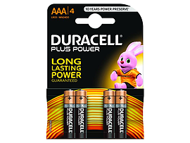 Duracell Plus Power AAA 4 Pack Multi Format and Universal