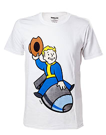 Fallout Vault Boy Bomber T-Shirt - Large Clothing