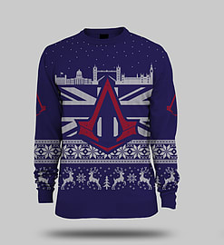 Assassins Creed ® Official Unisex Knitted Christmas Jumper Xl Clothing