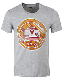 Star Wars Episode Vii Bb-8 Grey Men's T-shirt: Large (mens 40- 42) Clothing