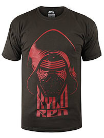Star Wars The Force Awakens Kylo Ren Black Men's T-shirt: Medium (mens 38 - 40) Clothing