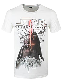 Star Wars Episode Vii New Villains White Men's T-shirt: Medium (mens 38 - 40) Clothing