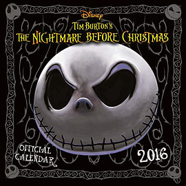 The Nightmare Before Christmas Nbx 2016 Square Calendar 30x30cm Books