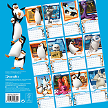 Penguins Of Madagasgar 2016 Square Calendar 30x30cm screen shot 1